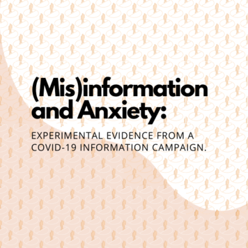 (Mis)information and Anxiety: Experimental Evidence from a COVID-19 Information Campaign
